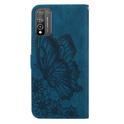 Butterfly Wallet Leather Case For Honor 10X Lite (5G) Cover Luxury Flip