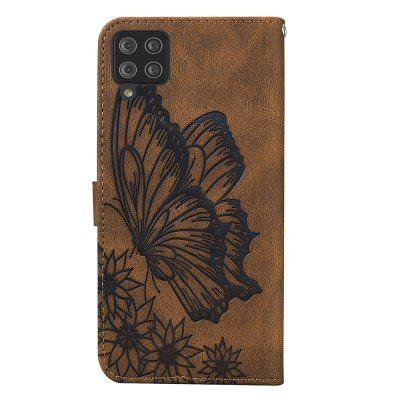 Butterfly Wallet Leather Case For Samsung Galaxy A42 5G Cover Luxury Flip