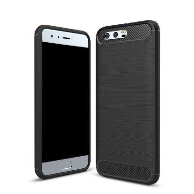Wkae Solid Color Carbon Fiber Texture TPU Soft Protective Case for Honor 9