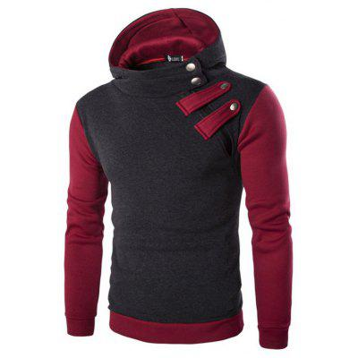 YOONHEEL Mens Sweatshirts Casual Sports Hooded Strap Diagonal Zip Jacket DW01