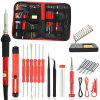 60W Red Electric Soldering Iron Kits Adjustable temperature Soldering Iron Kits with Welding Tool
