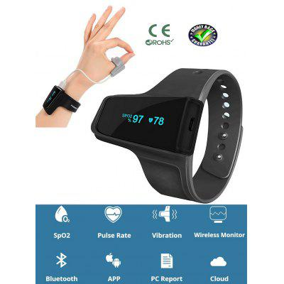 MOYEAH Sleep Aid Watch Monitor Heart Rate SpO2 Pulse Oximeter Alarm Wireless Bluetooth for OSA