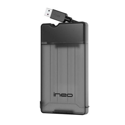 ineo Tool-less External Hard Drive Enclosure with UASP Supported and Screwless - T2573 White