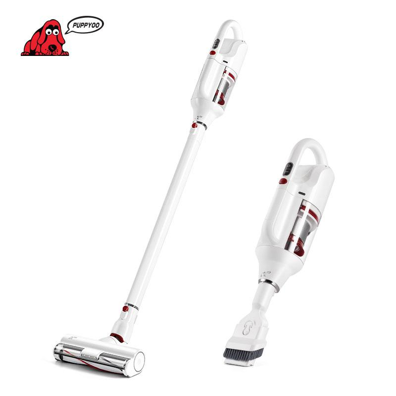 PUPPYOO T10 Home Cordless Vacuum Cleaner Brushless Motor LED 250W 17500Pa 2 in 1 HEPA 45MIn - White EU Germany