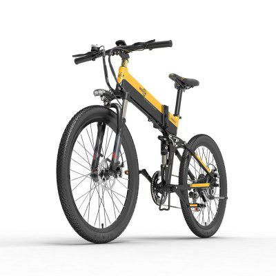 Bezior X500Pro Electric Moped Bicycle Bike 100KM Pedal Assist 48V 500W Motor 10.4AH 26in Wheel 5in LCD Meter
