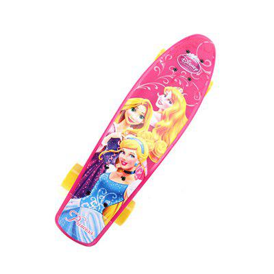 Disney Skateboard Road Princess Longboard Skate Board 4 Wheel Downhill Street Long Board Pink