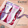 Kemei Women Shaver Razor Electric Rechargeable Lady Shaving Trimmer Body Hair Removal for Female