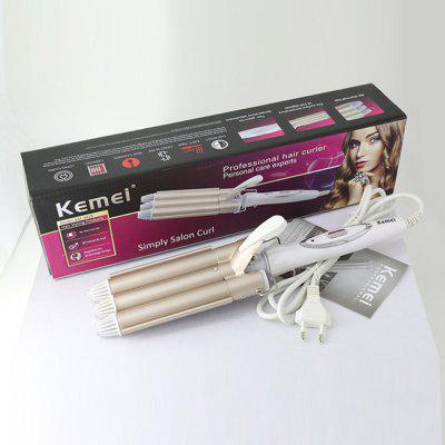 Kemei hair curler styling tool Hair Waver Electric curling irons Hair crimper Ceramic Perm Splint