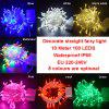 100LED 10M LED String Fairy Light Lamp Christmas Party Wedding Decoration Garland Festival EU 220V