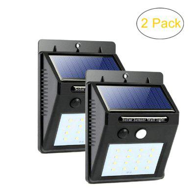 ZDM 2PCS Waterproof LED Solar Sensor Lights Outdoor Super Bright 20 LEDs White with Motion Activated
