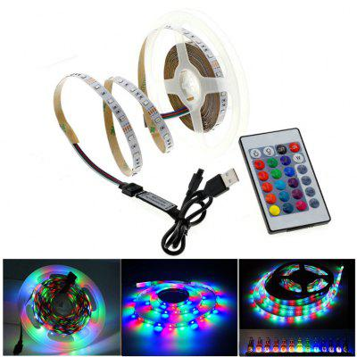 ZDM 5V USB SMD 2835 Color LED Light Strips with 24 Keys IR Remote Control for Background Lighting