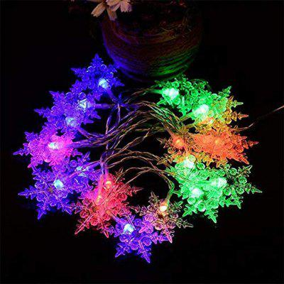 ZDM Snowflake light string LED 5V White Indoor Fairy Lights for Christmas Day Party Decoration