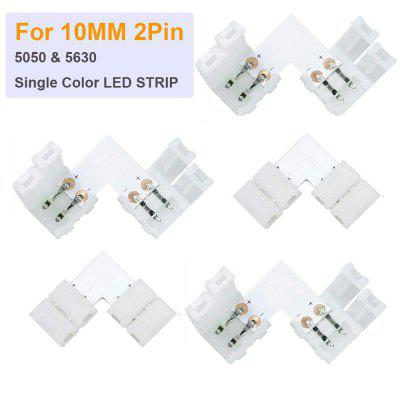 L shape Connector 5 pack Right Angle Corner Solderless Connector  for 3528 5050 SMD LED Strip Lights