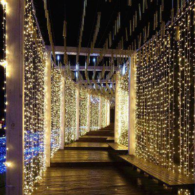ZDM 3X3m Curtain lamp string 300 LED String Light Wedding Party Garden Bedroom Interior Decoration