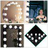 ZDM Hollywood Style USB 5V LED Vanity Lights Makeup Lighting Fixture Strip 10 Dimmable Light Bulbs