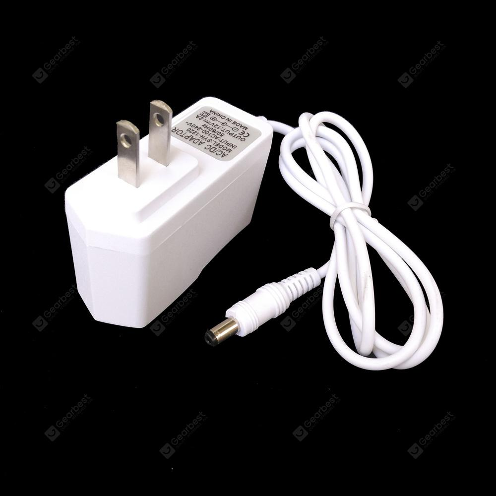 Gearbest ZDM White Wall Charger 24W Power Supply AC Adapter 100-240V to DC12V Transformers 2.1mm X 5.5mm