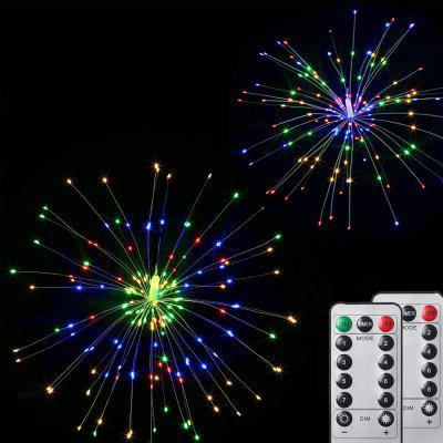 ZDM 2 Pack 120LED Firework Copper Lights 8 Modes Dimmable String Fairy Lights with Remote Control