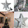 3D hollow Star Christmas tree top with rotating magic white snowflake projector for Christmas Tree