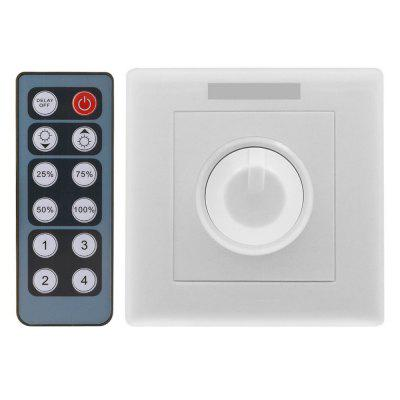 ZDM DC12-24V 8A PWM LED Dimmer Controller with 12 key Wireless IR Remote for LED Light Strip