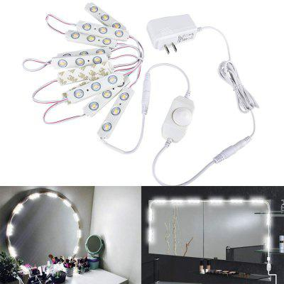 Make Up Mirror Light Dimmable White 10 LED Module Light Bulbs with Switch Dimmer and Power Supply