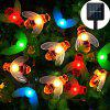 20-50Pcs Multi-color LED Honey Bee Shape Solar-Powered 8 function Waterproof LED Strand Lights