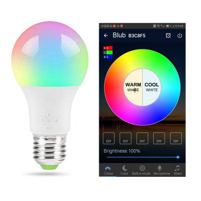 Smart WiFi Light Bulb E27 RGB with Warm white Intelligent group control No Hub RequiredCompatible