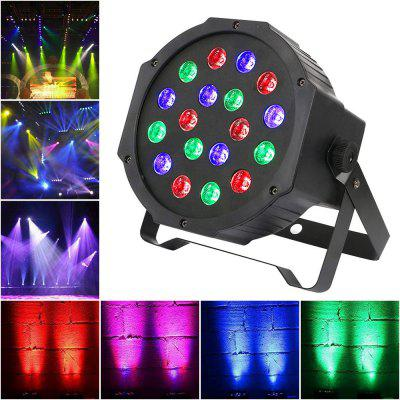 18W LED Par Lights Uplights Stage Lighting RGB DMX Lighting with Sound Control 7 Channel  EU Plug