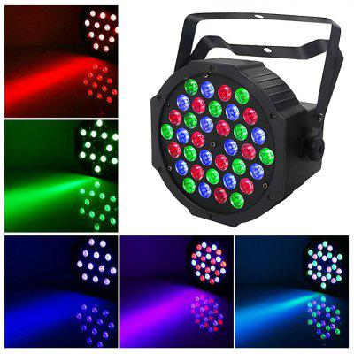 36W LED Par Lights Uplights Stage Lighting RGB DMX Lighting with Sound Control 7 Channel  EU Plug