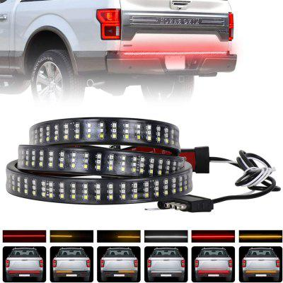 ZDM 60 inch 432 LEDs Triple Row Tailgate LED Light Strip Brake Running Sequential Amber Turn Signal