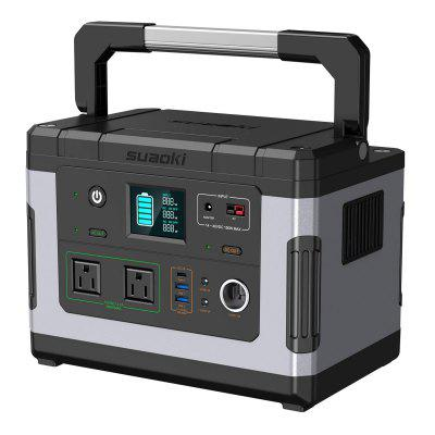 SUAOKI G500 Portable 500Wh Power Station with 2 Pure Sine Wave Continuous 110V 300W AC Outlets