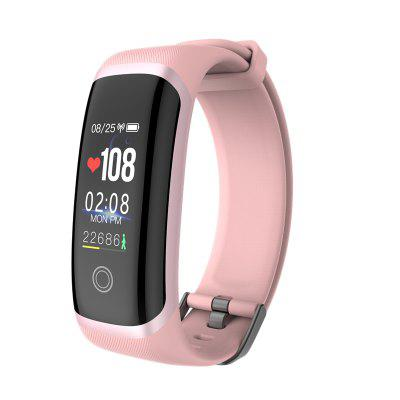 sosnsky Smart band M4 Bracelet Heart Rate Fitness Color Screen Blue tooth_Pink_27 functions