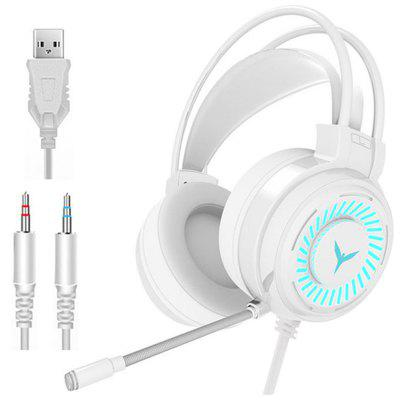 Фото - Tourya Gaming Headsets  HT02 Gamer Headphones 4D Surround Sound Stereo Wired Earphones USB Microphone Colourful Light PC Laptop Game HiFi Headset kbear kb06 hifi metal earphone high quality sound tiktok same style china