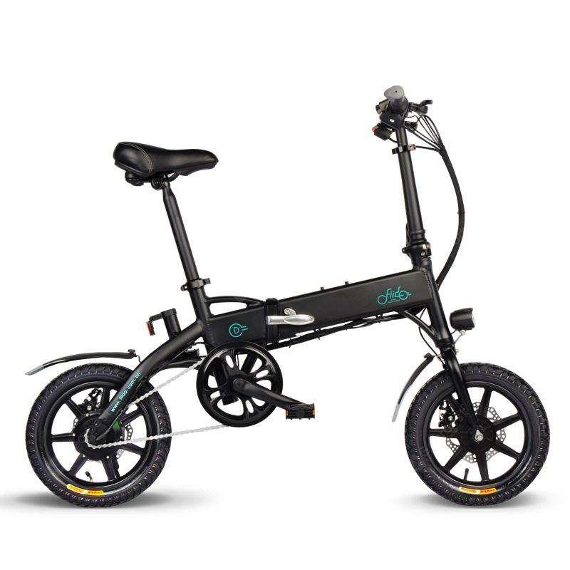 FIIDO D1 Folding Electric Bike Moped Bicycle E-bike - Black 7.8AH with EU Charger Poland - Black 8AH Poland