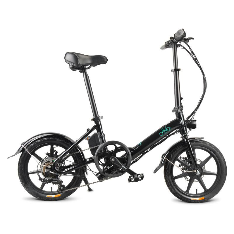 FIIDO D3S Folding Electric Bike Moped Bicycle Variable speed Shifting Version 16in Wheel From Poland - Black Poland