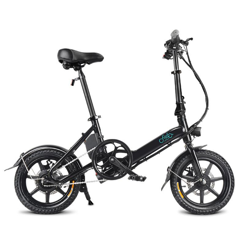 FIIDO D3 Mini Aluminum Alloy Smart Folding Electric Bike - White Poland - Black Poland