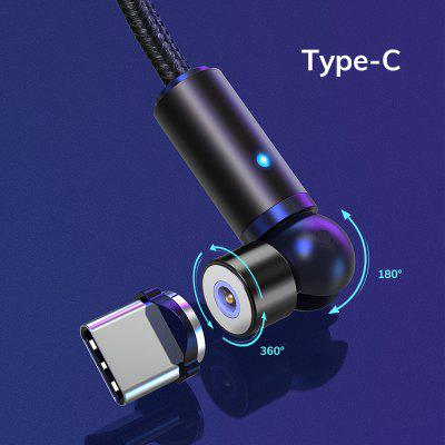 TOPK AM68 360° and 180° LED Free Rotation Magnetic Charging Micro Type C iPhone 540° USB Charge Cable