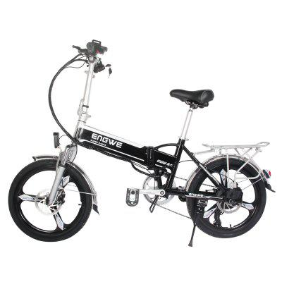 ENGWE 400W Folding Electric Bike with 48V 10AH Removable Lithium-Ion Battery and 7 Speed Gear
