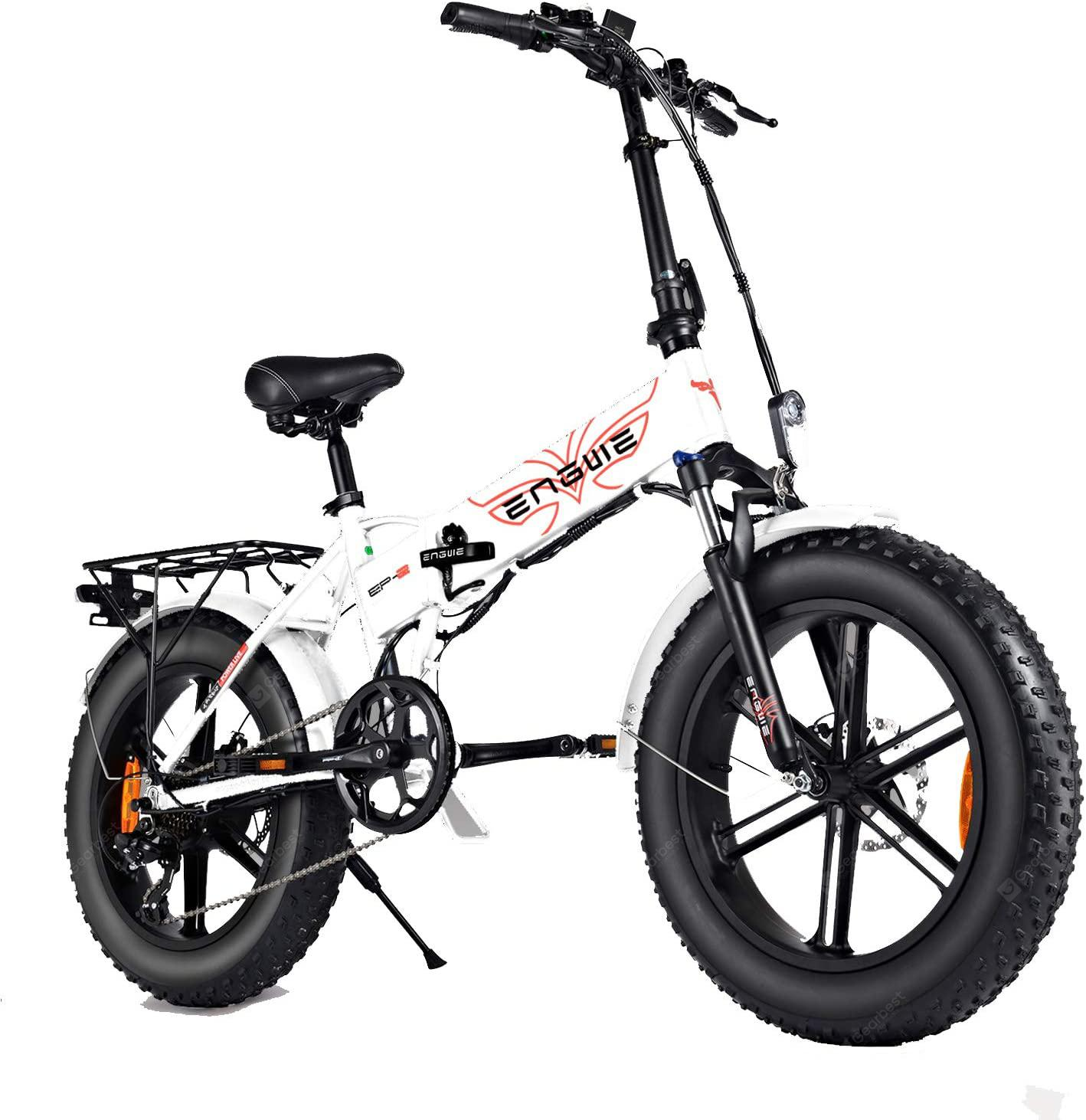"""ENGWE EP-2 PRO 750W Folding Fat Tire Electric Bike with 48V 12.8Ah Lithium-ion Battery"" 3"