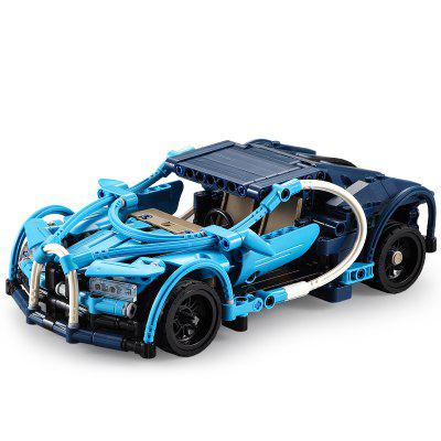 CaDA C52015 509PCS Building Block 6-in-1 Boy Toy Blue Phantom Stunt Suit Assembly Model Gift