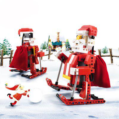 CaDA C51034 439pcs 2 in 1 DIY Building Blocks Bricks Santa Claus Snowmobile Toy for Christmas Gifts