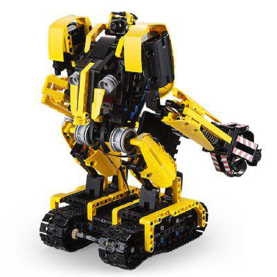 CaDA C51026 930PCS 2 in 1 Remote Control Robot RC Excavator Building Blocks Bricks Toys for Kids