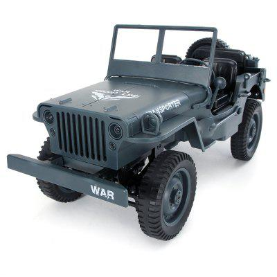JJRC Q65 2.4G 4WD RC Car Light Jeep Four-Wheel Drive Off-Road Military Climbing Car Toy