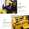 CaDA C51058 491pcs Blocks Building Assembled Wheel Loader Bulldozer Excavator RC Car for Kids Gift