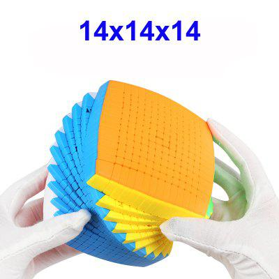Newest Top 14 Layers 100mm Stickerless 14x14x14 Magic Cube Speed Puzzle 14x14 Cube Toys Gift