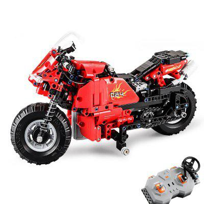 CaDA C51024 484PCS Technic Series DIY Building Block RC Two-Wheeled Motorcycle Racing Car Toys Gift
