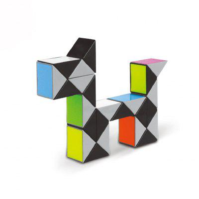YUXIN 3D Colorful Modeling Magic Ruler 24 36 72 Segments Snake Twist Cube Puzzle Toy for Children