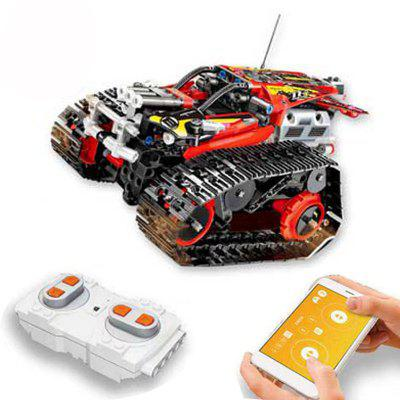 MOULD KING 13023 410PCS RC Crawler Stunt Car Building Blocks APP Remote Control Car Bricks Toys