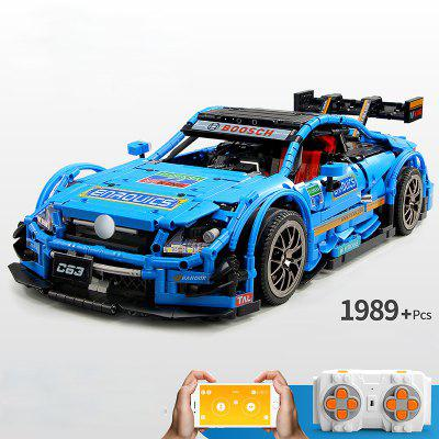 13073 1989PCS C63 RC Drift Racing Car APP Remote Control Building Blocks Technic Kids Toys Gift