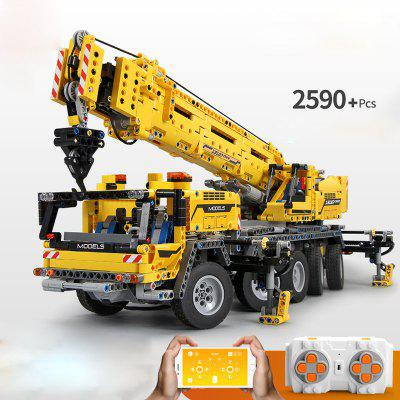 Mould King 13107 2590PCS Technic Building Blocks Bricks Motor Power Mobile Crane Toys For Children