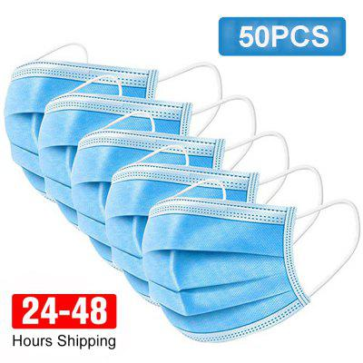 Surgical Mask 3-ply Non-woven Virus Protection Medical Care Facepiece with Melt-blown Filter Layer